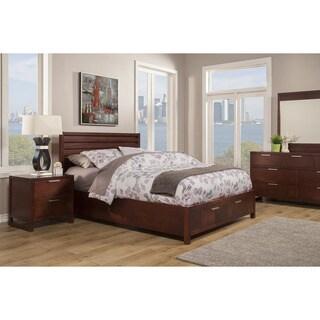 Somette Andover Merlot Storage Platform Bed