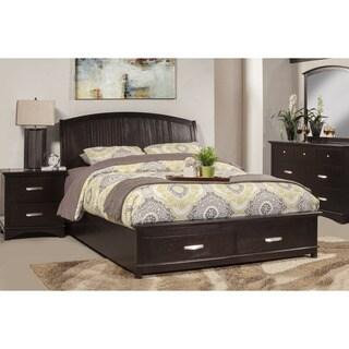 Somette Plum Harbor Espresso Storage Platform Bed