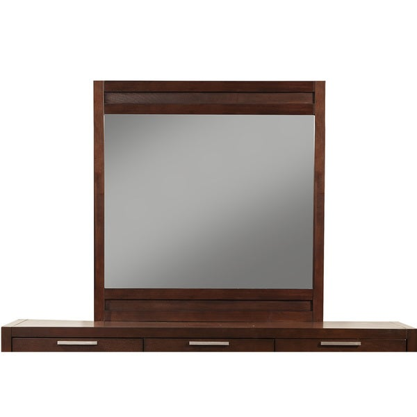 Somette Andover Merlot Mirror