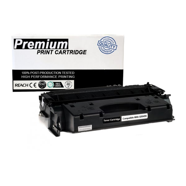 Compatible HP LaserJet Q5949X Black High Yield Toner Cartridge for Printers 1320 3390 Series