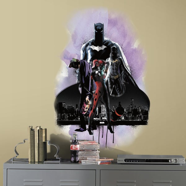 Batman with Villians Peel and Stick Giant Wall Graphic