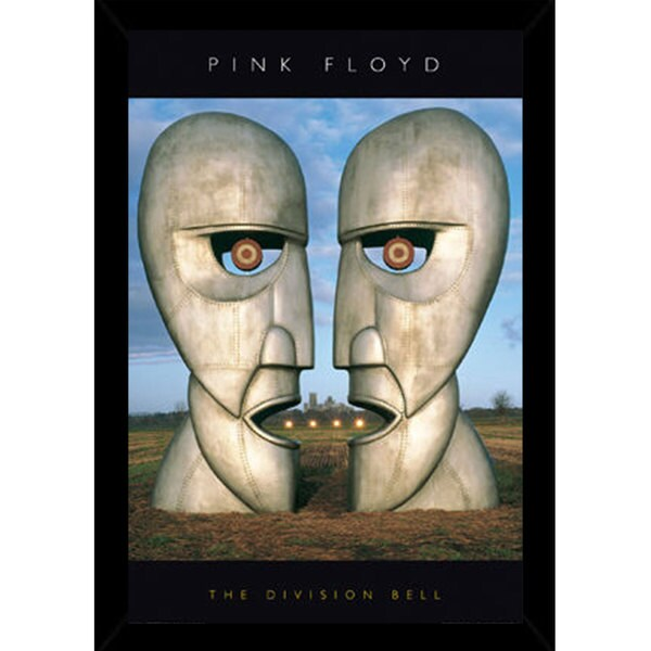 Pink Floyd - Division Bell Print (24-inch x 36-inch) with Traditional Black Frame