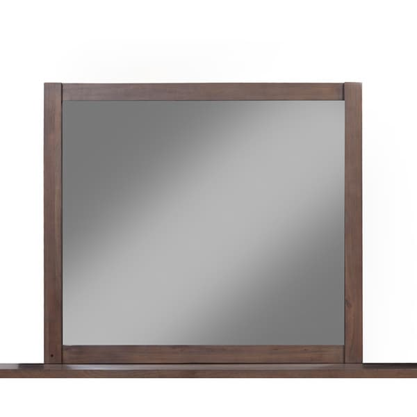 Somette Stockbridge Pecan Mirror