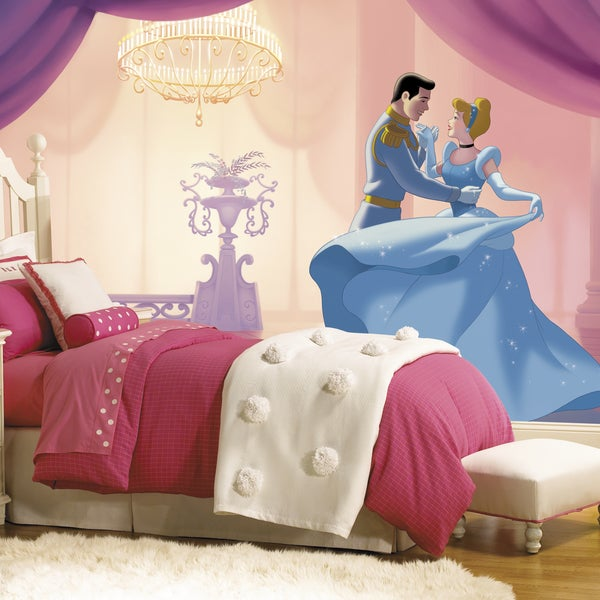 Roommates Cinderella 'So This Is Love' XL Chair Rail Prepasted Mural 6-foot x 10.5-foot Ultra-strippable