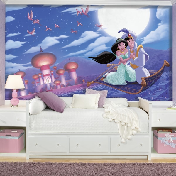 Roommates Aladdin 'A Whole New World' XL Chair Rail Prepasted Mural 6-foot x 10.5-foot Ultra-strippable