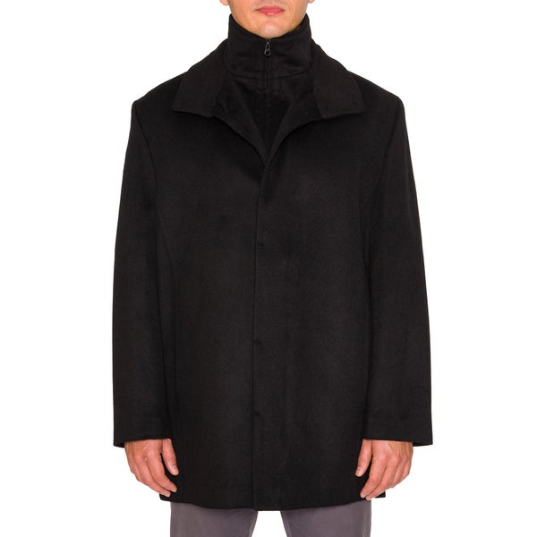 Braetan Mens Wool Blend Modern Fit Peacoat