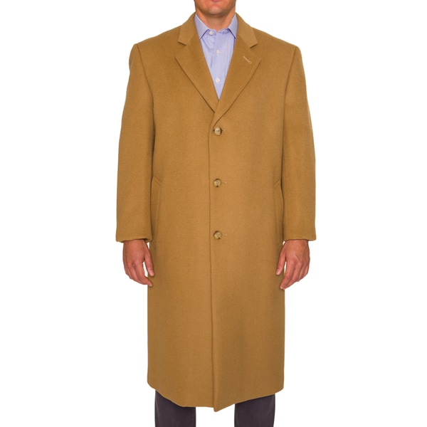 Braetan Mens Wool Blend Classic Fit Peacoat