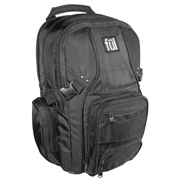 Ful Tennman Black 17-inch Laptop Backpack