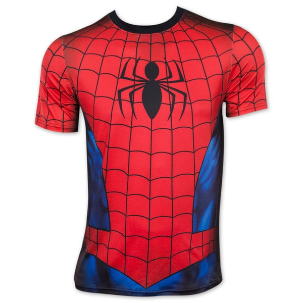 Spider-Man Sublimated Men's Athletic Costume Tee Shirt 16658508