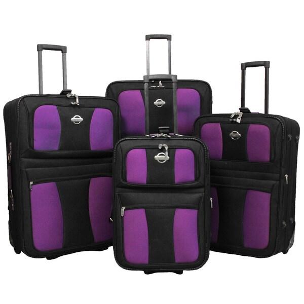 Coronado All Inclusive 4-piece EVA Molded Expandable Rolling Luggage Set