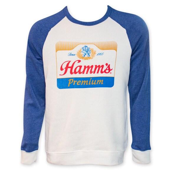 Hamm's Premium Raglan Sleeve Crew Neck Sweatshirt