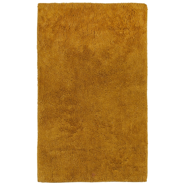 "Plush Pile Gold 30""x50"" Bath Rug"