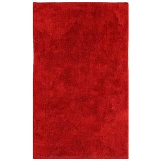 """Plush Pile Red 30""""x50"""" Bath Rug"""