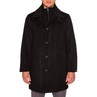 Nautica Mens Peacoat with Knit Collar and Lapel
