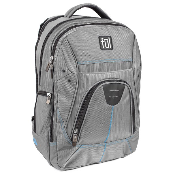 Ful Gung-Ho Grey 15-inch Laptop Backpack