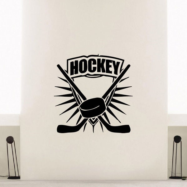 Ice Hockey Puck Vinyl Wall Art Decal Sticker