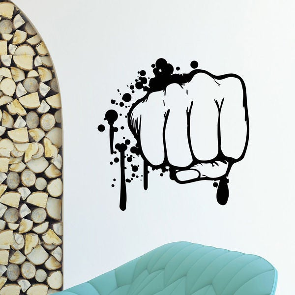 Bloody Fist Vinyl Wall Art Decal Sticker 16658920