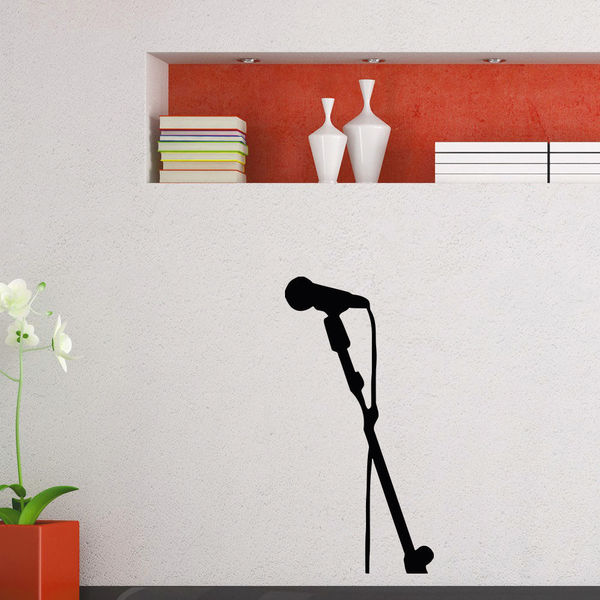 Karaoke Decor Mic Microphone Music Vinyl Wall Art Decal Sticker