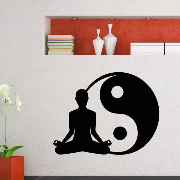 Yoga Yin Yang Vinyl Wall Art Decal Sticker