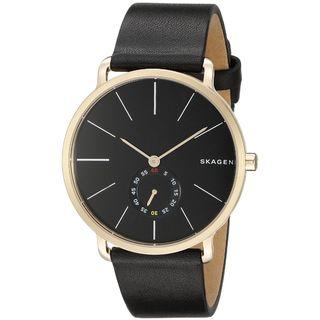 Skagen Men's SKW6217 'Hagen' Black Leather Watch