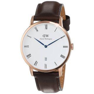 Daniel Wellington Unisex 1103DW 'Dapper Bristol' Brown Leather Watch