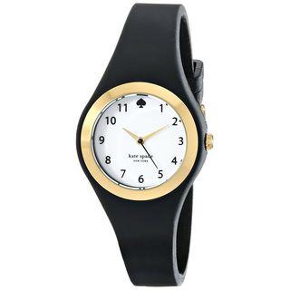 Kate Spade Women's 1YRU0642 'Rumsey' Black Silicone Watch