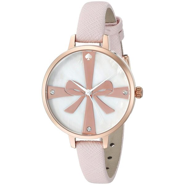 Kate Spade Women's 1YRU0879 'Metro Wrapped Up' Crystal Pink Leather Watch
