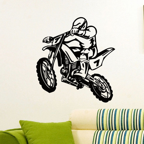 Stunt Bike Motorcycle Vinyl Wall Art Decal Sticker