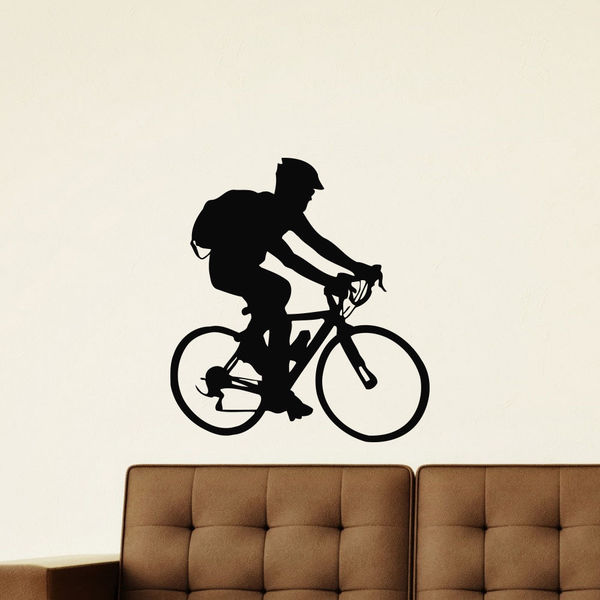 Cycling Mountain Biking Sport Vinyl Wall Art Decal Sticker