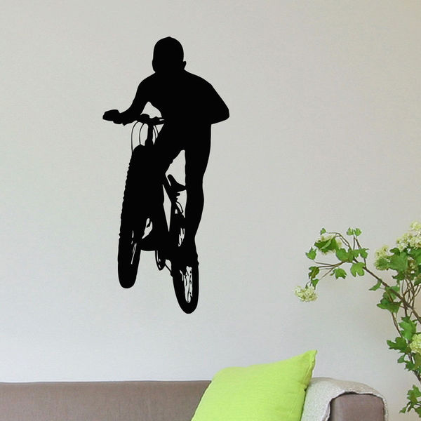 BMX Mountain Biking Sport Vinyl Wall Art Decal Sticker