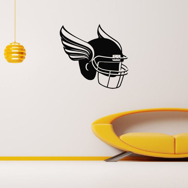 Helmet With Wings Football Rugby Vinyl Wall Art Decal Sticker