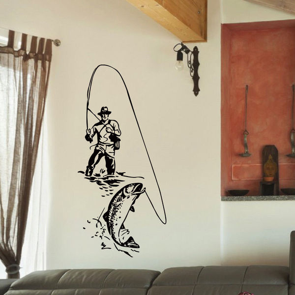 Bass Fishing Vinyl Wall Art Decal Sticker