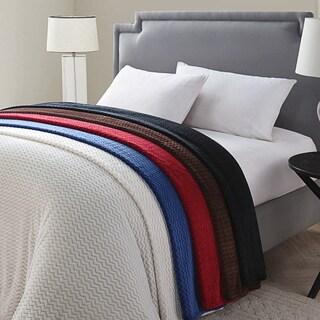 Knitted Chevron Blanket