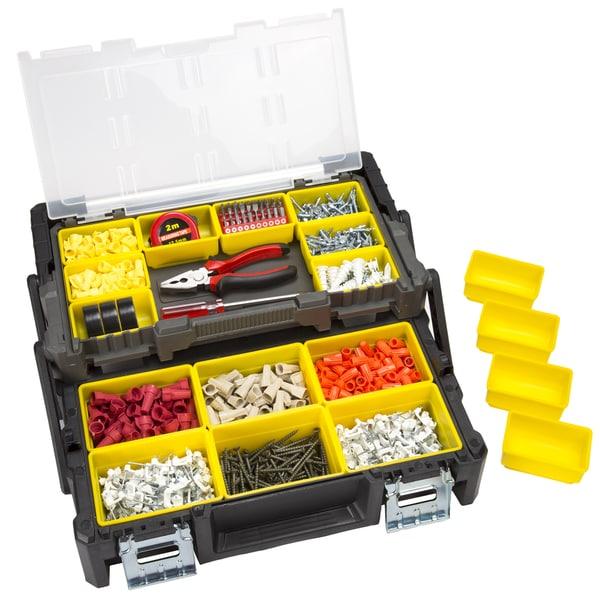 Stalwart Parts & Crafts Tiered Storage Tool Box - 18 Inch