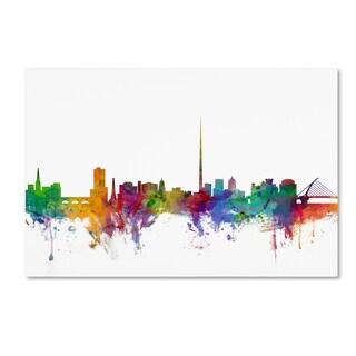 Michael Tompsett 'Dublin Ireland Skyline' Canvas Wall Art
