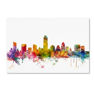 Michael Tompsett 'Austin Texas Skyline' Canvas Wall Art