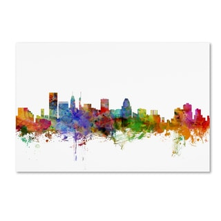 Michael Tompsett 'Baltimore Maryland Skyline' Canvas Wall Art