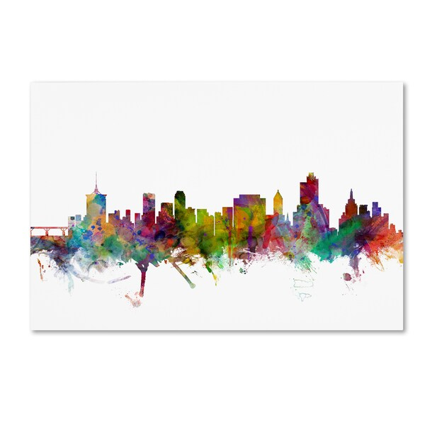 Michael Tompsett 'Tulsa Oklahoma Skyline' Canvas Wall Art