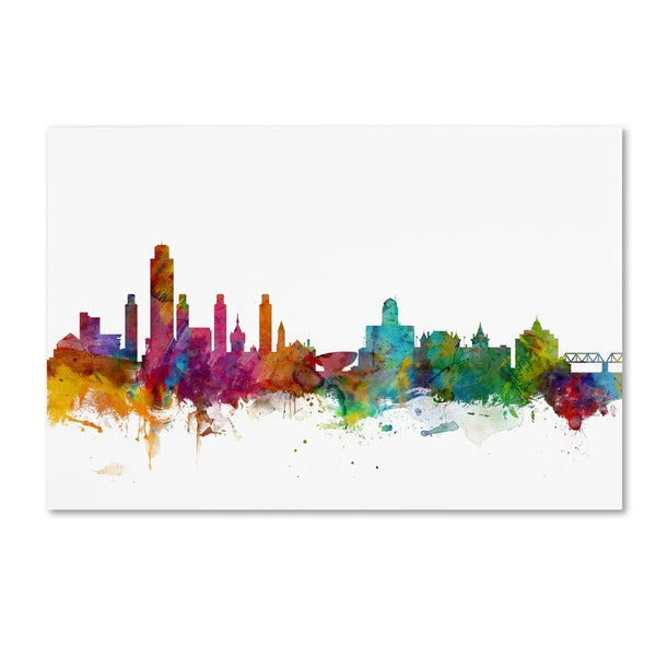 Michael Tompsett 'Albany New York Skyline' Canvas Wall Art