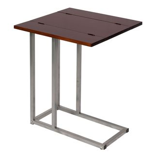 Bay Shore Collection Expandable Modern Side Table - Espresso