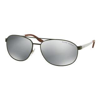 Ralph Lauren Men's RL7048 Green Metal Pilot Sunglasses
