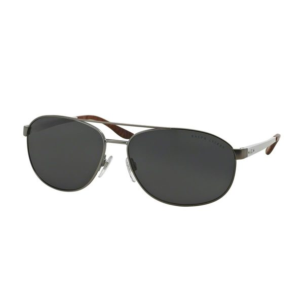 Ralph Lauren Men's RL7048 Silver Metal Pilot Sunglasses