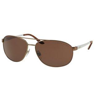 Ralph Lauren Men's RL7048 Brown Metal Pilot Sunglasses