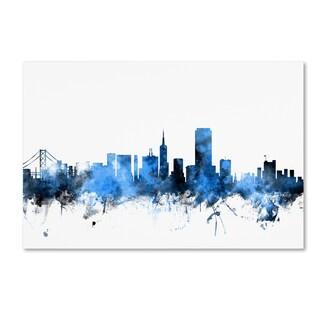 Michael Tompsett 'San Francisco City Skyline II' Canvas Wall Art