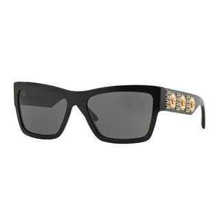 Versace Men's VE4289 Black Plastic Butterfly Sunglasses