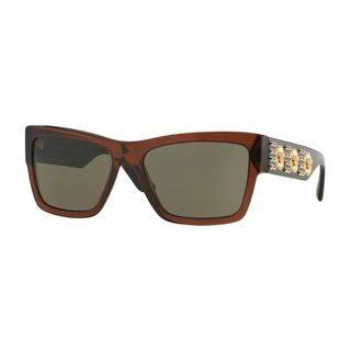 Versace Men's VE4289 513073 Brown Plastic Butterfly Sunglasses