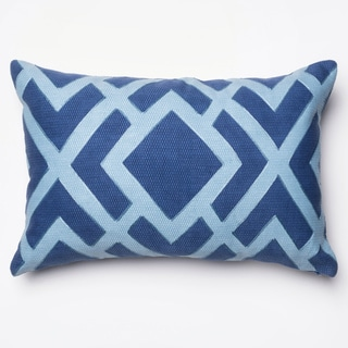 """Printed Geometric Blue Down Feather or Polyester Filled Throw Pillow or Pillow Cover (13"""" x 21"""")"""