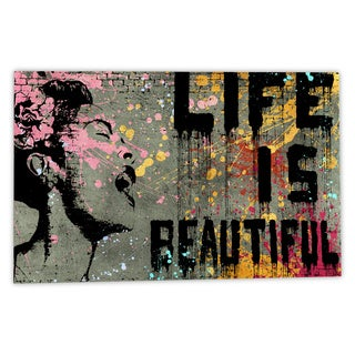 Banksy 'Life is Beautiful' Canvas Wall Art