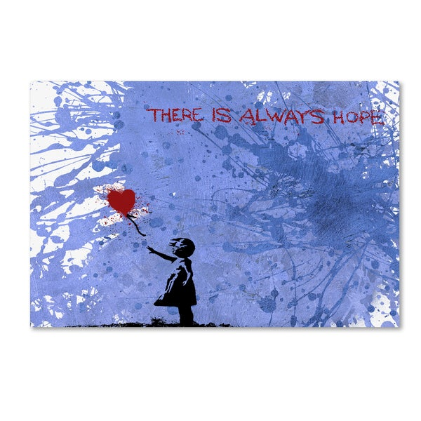 Banksy 'There Is Always Hope' Canvas Wall Art