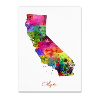 Michael Tompsett 'California Map' Canvas Wall Art